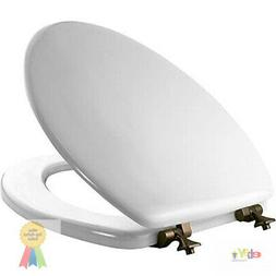 Bemis 000 MAYFAIR Toilet Seat with Oil Rubbed Bronze Hinges