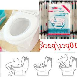 50PCS Travel Disposable Toilet Seat Covers Paper Travel Biod