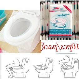 10/50pcs Pack Disposable Toilet Seat Covers Paper Travel Bio