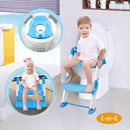 GPCT  3-in-1 Kids Toddlers Potty Training Seat W/Step Stool.