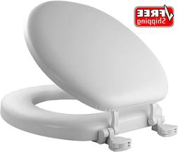 MAYFAIR 13EC 000 Soft Toilet Seat Easily Removes, ROUND, Pad