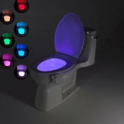 16 Color LED Toilet Night Light Motion Activated Sensor Bath
