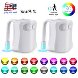 muticolor toilet night light led motion activated