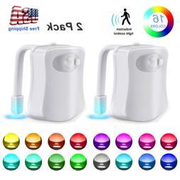 16 Color Toilet Night Light LED Motion Activated Sensor Bath