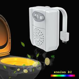 16 RGB Colors Night Lights Bathroom Home Toilet Lamp Seat Le