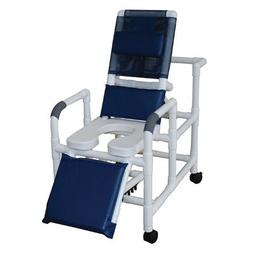MJM International 193-SSDE Reclining Shower Chair with Eleva