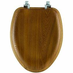 Mayfair Natural Reflections Toilet Seat with Chrome Hinges,
