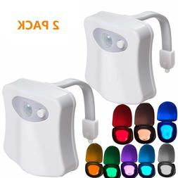 2PACK Toilet Night Light Motion Activated 8 Color Changing L