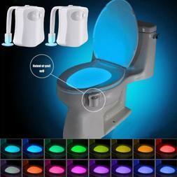 2Pcs Toilet Night Light Motion Activated 16-Color LED Sensor