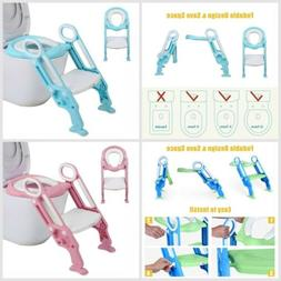 3 Colors Baby Trainer Toilet Potty Seat Chair Toddler Ladder