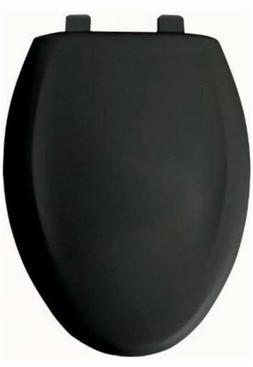 Church 380TCA BLACK 047 Plastic Elongated Toilet Seat Closed