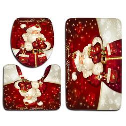3pcs/set Christmas <font><b>Toilet</b></font> Cover <font><b