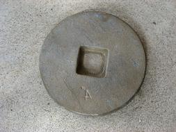 """4"""" Bronze Cleanout Coverplate"""
