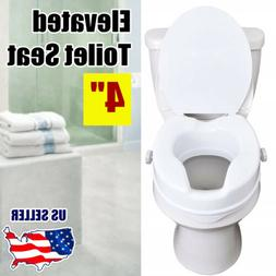 "4"" Height Raised Elevated Toilet Seat Riser for Handicapped"