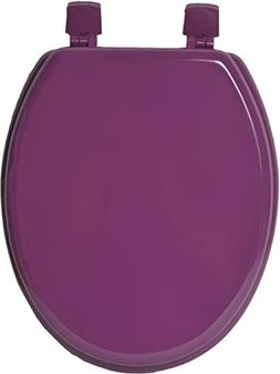 EVIDECO 4101170 Oval Toilet Seat Solid Color Purple, Wood, 1