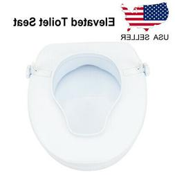4Inch High Elevated Toilet Seat Riser with Lid for The Elder