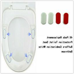 4pcs Toilet Seat Buffers Bumpers Universal Adhesive Bathroom