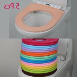 5 Pcs O-Type Toilet Seat Closestool Cover Mat knitting Soft
