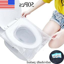 50 PCS Travel Disposable Toilet Seat Cover Waterproof Portab