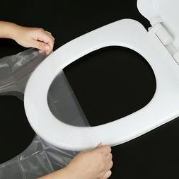 50pcs Disposable Toilet Seat Mat Travel Hotel Toilet Cover C