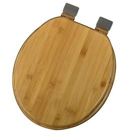 Bath Décor 5F1R1-20BN Round Rattan Bamboo Toilet Seat with