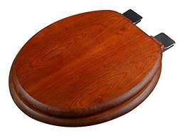Bath Décor 5F1R1-15CH Round American Red Oak Toilet Seat wi