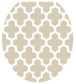 Toilet Tattoos, Toilet Seat Cover Decal, Taupe Quatrefoil, S