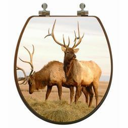 Topseat 6TSPR1508CP Upland Series Elk Round 3D Toilet Seat