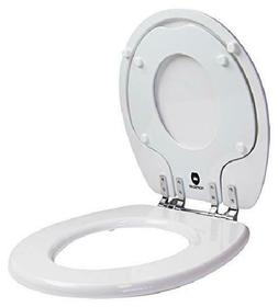 TOPSEAT 6TSTR9999CP 000 TinyHiney Round Toilet Seat with Met