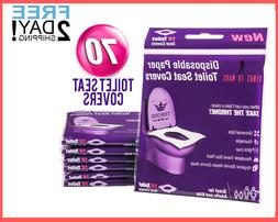 70 PCS Disposable Toilet Seat Covers – Flushable Toilet Se