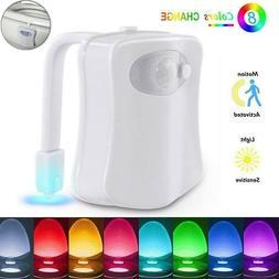 8 Color Change LED Toilet Bathroom Night Light Motion Activa