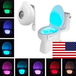 8 Color Led Toilet Seat Light Night Motion Activated Sensor