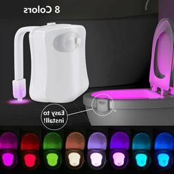 8 Color Toilet Night Light LED Motion Activated Sensor Bathr