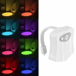 8 Colors Automatic LED Toilet Night Lights Motion Sensor Glo