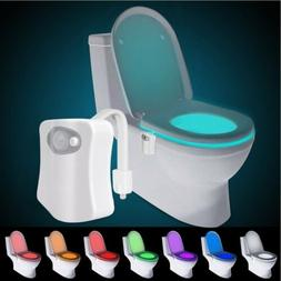 8 Colors LED Toilet Bowl Bathroom Light Motion Activated Sea