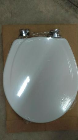 MAYFAIR 830CHSLB 000 Toilet Seat with Chrome Hinges will Slo