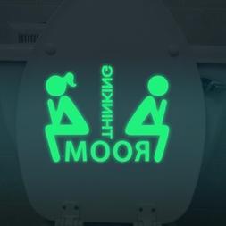 Art - Dx-014 15x20cm Fluorescent Glow Toilet Wall Sticker Th