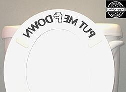 BERRYZILLA PUT ME DOWN Decal Toilet Bathroom Seat Vinyl Stic