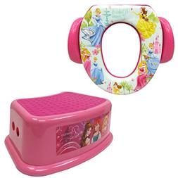 Disney Princess Potty Training Combo Kit - Contour Step Stoo