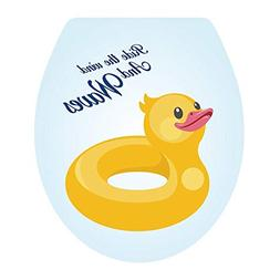 Homefind  3D lovely Yellow Duck Toilet Seat Stickers Removab