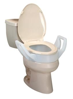 "Ableware 725753311 Elevated Toilet Seat with Arms, 3-1/2"" El"