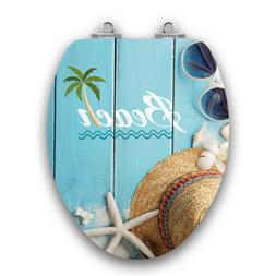Topseat Art of Acryl Beach Slow Close Elongated Toilet Seat