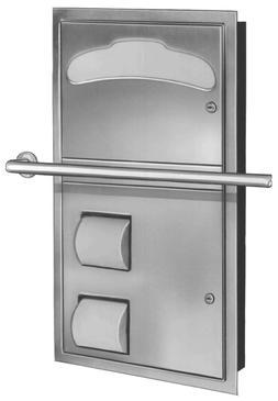 ADA Compliant Version -- Bradley 5922 Toilet Seat Cover & Ti