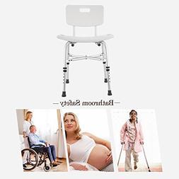 adjustable aluminium shower bench stool seat bath