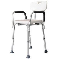 HomCom Adjustable Mobility Medical Grade Shower Seat Chair W