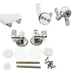 Replacement Chrome Toilet Seat Hinge Set Hinges With Fitting
