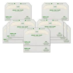 Alpine Disposable Flushable Toilet Seat Paper Covers 20-Pack