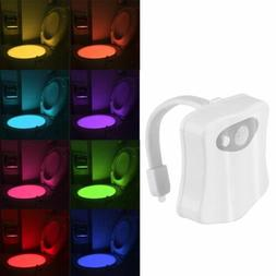 Automatic 8 Color LED Toilet Bathroom Night Lights Motion Ac