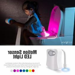 automatic 8 color led toilet bathroom night