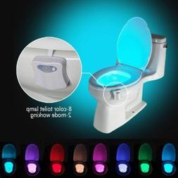 Automatic 8 Colors LED Toilet Night Lights Motion Sensor Glo